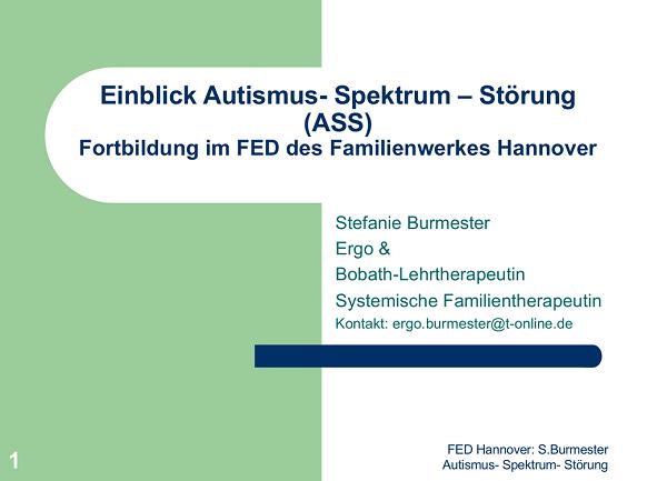 Fortbildung Autismus-Spektrum-Störung